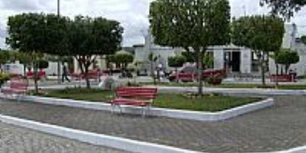 Ribeira do Amparo-BA-Praça da Prefeitura Municipal-Foto:José Fonsêca Daltro Filho
