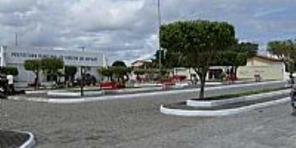 Ribeira do Amparo-BA-Praça e Prédio da Prefeitura Municipal-Foto:José Fonsêca Daltro Filho