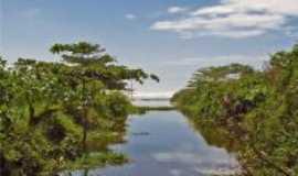 Solemar - Rio Itinga desembocando no Mar, Por Valmirez