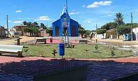 Ribeira do Pombal - Ribeira do Pombal-BA-Praça e Matriz no Povoado Feira da Serra-Foto:povopombalagenda-positiva