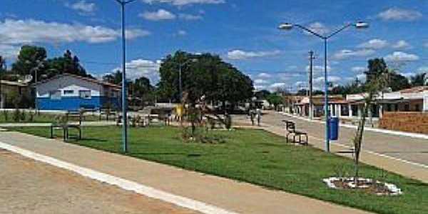 Ribeira do Pombal-BA-Praça Antonio Francisco de Novais no Povoado Feira da Serra-Foto:povopombalagenda-positiva