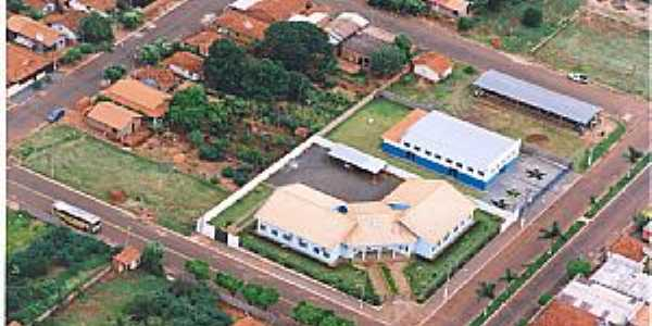 Suzanópolis-SP-Prefeitura Municipal,Clube 3ª Idade e Bocha-Foto:Engº Antonio Zizas Junior