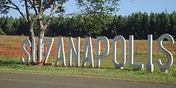 Suzanópolis-SP-Trevo de acesso-Foto:Engº Antonio Zizas Junior