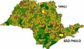 Taiaçu - Mapa