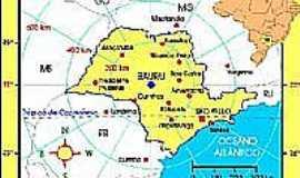 Tibiriçá - Mapa