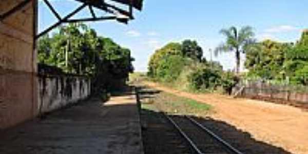 Plataforma da Estação Ferroviária de Tibiriça-Foto:gustavo_asciutti