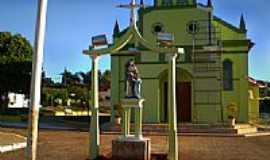 Trabiju - Imagem da Padroeira Santa Ana em frente a Matriz-Foto:Pedro Aguinaldo