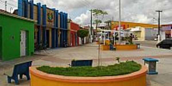 Praça Benício Alves no centro de Lagoa da Canoa-AL-Foto:oliveira.clebson