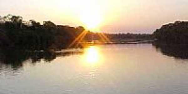 Pôr do Sol no Rio Manoel Alves-Foto:jlscopel
