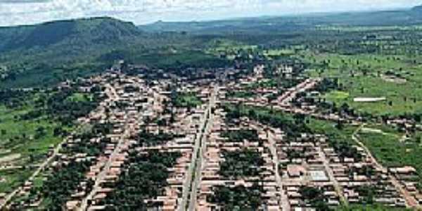Chapada da Areia-TO-Vista aérea da cidade-Foto:portalmodelo.com.br