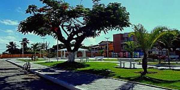Nova Praça - Salinas da Margarida -(Foto: Diga Salinas)