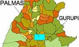 Gurupi - Mapa de Localização - Gurupi-TO