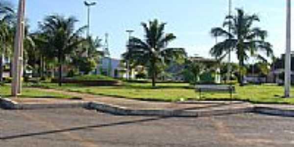 Praça central-Foto:Dimas Justo