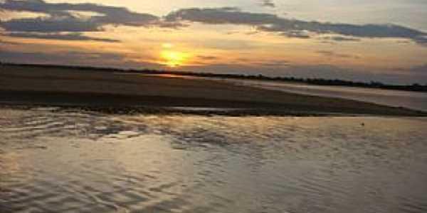 Pium-TO-Pôr do Sol no Rio Pium-Foto:Graça Santos