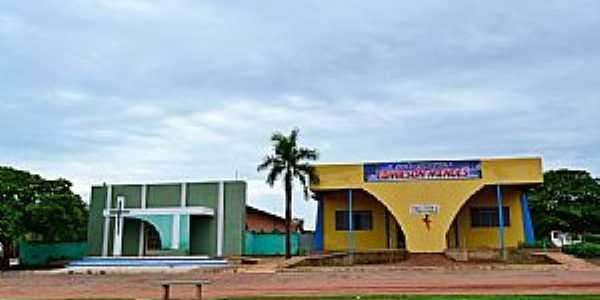 Sandolândia-TO-Igreja e Salão Paroquial-Foto:Arolldo Costa