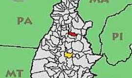 Santa Maria do Tocantins - Mapa de Localização de Santa Maria do Tocantins