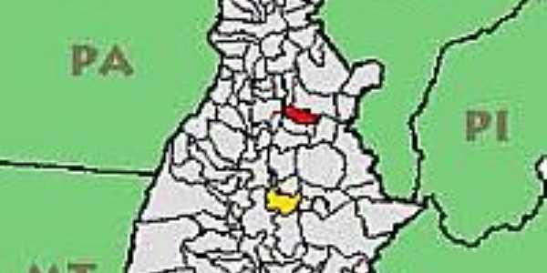 Mapa de Localização de Santa Maria do Tocantins