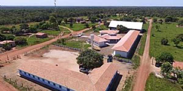 Santa Rita do Tocantins-TO-Vista aérea da Escola rural Menino Jesus-Foto:santarita.to.gov.br