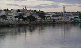 Santa Maria da Vit�ria - Rio Corrente e a cidade de Santa Maria da Vit�ria-BA-Foto:Cassio Scomparin